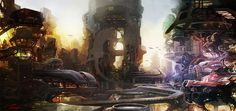 """Sci-Fi City"" by Tae Won Jun - http://www.taegaconcept.com/"