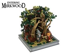 https://flic.kr/p/prBiDa | Entering Mirkwood | This was built for the Middleearth Contest at Eurobricks  Category C was to build a chpater from the Hobbit on a 16x16 vignette.  Gandalf is telling Bilbo, that he has to leave the group. They have to face the menaces of Mirkwood on their own...