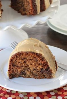Peanut Butter Banana Bundt Cake with Reese's Peanut Butter Cups and a Peanut Butter Glaze-recipe on twopeasandtheirpod.com