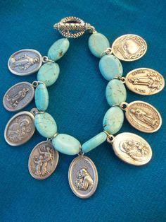 Santo Charm Bracelet by jennyclay on Etsy, $25.00