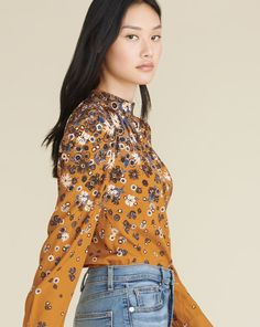 Fey Floral Blouse | Veronica Beard