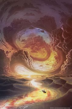 Artists & Artlovers: Dream and Fantasy Art by Jeffrey Smith Artist : Jeffrey Smith (Ascending Storm) aka. Art And Illustration, Fantasy Kunst, Fantasy Art, Art Inspo, Art Visionnaire, Visionary Art, Fantasy Landscape, Surreal Art, Oeuvre D'art