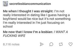 this is also a strong bisexual mood Lesbian Humor, Lesbian Pride, My Tumblr, Tumblr Funny, Lgbt Memes, Lgbt Love, Lgbt Community, My Guy, Random