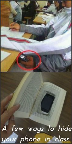 Good way of hiding your phone from your teacher :P For more Teen school hacks checkout  the link below!! http://teenhacks.weebly.com/school.html