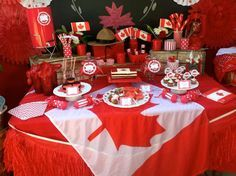 Time to Party, eh? Canada Day 150, Canada Day Party, Happy Canada Day, O Canada, Visit Canada, Food Themes, Party Themes, Party Ideas, Food Ideas