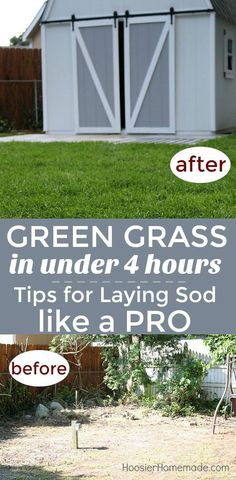 TIPS FOR LAYING SOD