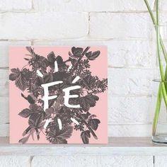 quadro decorativo fé rose