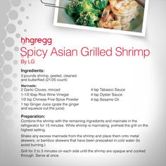 Looking for something different to cook on your #grill? These Spicy Asian Grilled Shrimp are filled with flavor and zest that will keep you wanting more! #FoodieFriday