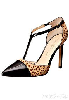 Ivanka Trump Camelaly Leather Dress Pump