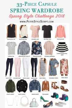 Spring Capsule Wardrobe | 33-piece capsule seasonal clothing and outfits | PSS Style Challenge | Petite fashion and style blog | Daily outfit ideas and inspiration | Daily style tips | Dress me for 5 weeks | Bonus outfits | Women's Shopping Guide for Spring | KonMari Method | Marie Kondo Philosophy