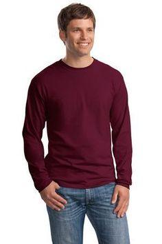 Hanes Beefy-T -  100% Cotton Long Sleeve T-Shirt.  5186 #tshirt #clothing