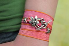 Add some style to your wrists! Ribbon wrap bracelets are one of this year's hottest trends. #jewelry #yoga #fashion