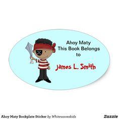 Ahoy Maty Bookplate Sticker