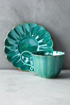 Wonderland Tea Cup and Saucer