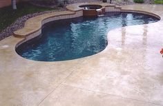 Smooth, Tan Concrete Pool Decks Super-Krete Spring Valley, CA