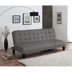 """Grey futon for the """"teen lounge"""""""