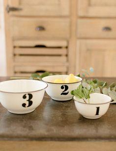 Enamel 123 Bowls