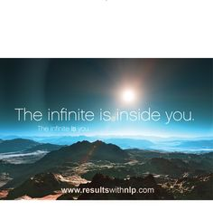 The infinite is you