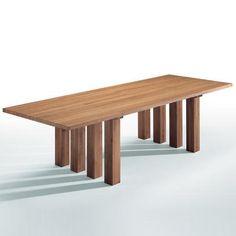 Mario Bellini, La Basilica 451 dining table for Cassina, 1976. #GISSLER #interiordesign