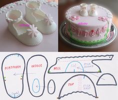Fondant Baby Bootie Template — Sketches, Patterns & Templates