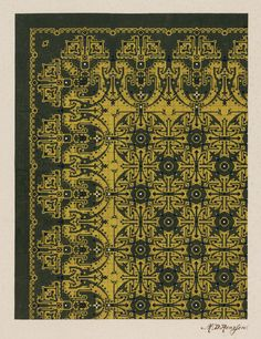 Carpet Design by M.D. Renssen,1903 / 1914. Deventer Musea, CC BY-SA Portal, Big Rugs, Carpet Design, Needlepoint, Cross Stitch Patterns, Conservatories, Embroidery, Sewing, Search