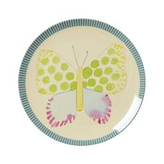 Rice Melamine lunchbord Vlinder Blauwe Rand