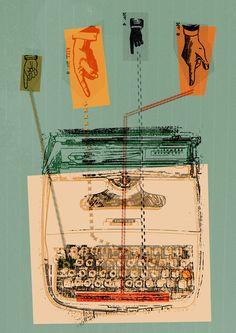 Typewriter Print by Double Merrick