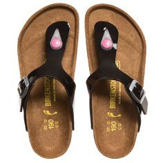 Birkenstock Girls Black 'Gizah' Toe Post Sandals at http://www.childrensalon.com/#a_aid=51f456f914eb5