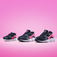 Kit out the kids for #Christmas with the Nike Air #Huarache GS 'Obsidian/Pink'. Available online and in stores now! by jdsportsofficial