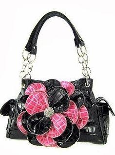 Pink flower purse.