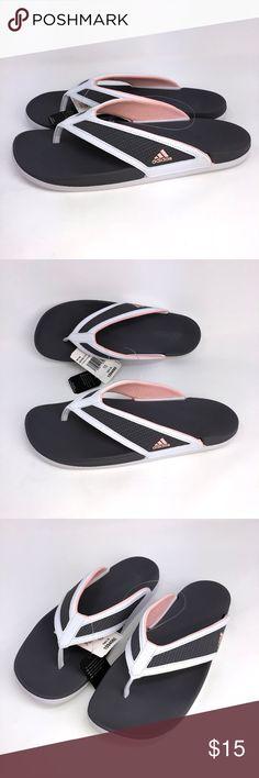 timeless design c339a c0091 Adidas Adilette CF Womens Sandals Gray Size 10 Adidas Adilette CF + Summer  Y Womens Sandals GrayWhite Size 10 Synthetic Flip-Flops Style Geometric  ...