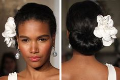 Curly hair can frizz and straight hair can go limp in humid island air. Bear this in mind when planning your wedding hairstyle!  By zankyou