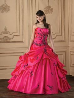 (NO.0259288)2012 Style Ball Gown Sweetheart  Embroidery  Sleeveless Floor-length Taffeta Prom Dresses / Evening Dresses