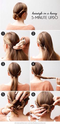 5 minutes updo
