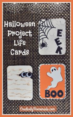 These handmade Halloween Project Life Cards will look so cute on any of your Halloween layouts. Learn how to make theme here! Doll Crafts, Fun Crafts, Make Theme, Project Life Cards, Halloween Projects, Layouts, October, Decorations, Homemade