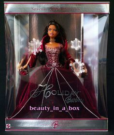 2004 Barbie - Holiday Barbie (burgundy) #