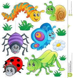 "Cliparts with Bugs Latest cliparts are ""Cute Bug Clipart"",""Bugging People Insects Clipart"",""Spring Bugs Clipart"" Insect Clipart, Bug Art, Bugs And Insects, Pretty And Cute, Nursery Wall Art, Rock Art, Cute Cartoon, Painted Rocks, Wall Art Prints"