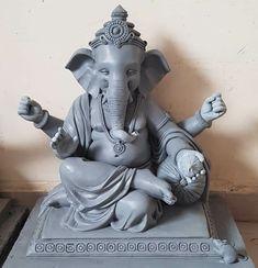 Clay Ganesha, Ganesha Art, Krishna Art, Shri Ganesh Images, Ganesha Pictures, Lord Ganesha Paintings, Lord Shiva Painting, Happy Ganesh Chaturthi Images, Abstract Pencil Drawings