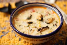 Corn and Mussel Chowder