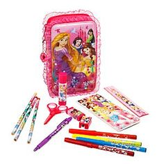 Disney Princess Zip-Up Stationery Kit | Disney StoreDisney Princess Zip-Up Stationery Kit - Open a royal doorway to imagination with our ruffled Disney Princess zip kit containing a virtual castle-full of art supplies for hours of creative play and fanciful dreaming.