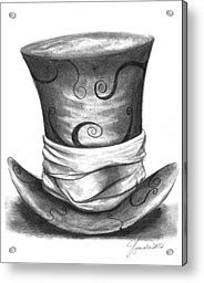 Mad Hat Acrylic Print by J Ferwerda