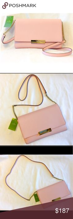 New Kate Spade Maiden Way Remi in Pink!  It's a vision in pink  Ladies, if you have been searching for a long term and beautiful crossbody bag then search no more.  Rich, smooth Saffiano leather in the rose jade shade.   The interior features a zip and slide pocket.  It has a magnetic closure.  A muse of a purse kate spade Bags Crossbody Bags