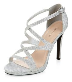 Steve Madden silver high heel sandals > strappy & sparkly ...