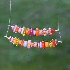 """""""Truculent"""", collier de perles de verre, type verre de murano"""