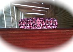 BREAST CANCER AWARENESS Pink Camo Survival Band by CJSurvivalBands, $6.95
