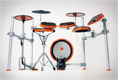 Based in Sweden, has a long experience in developing powerful electronic musical instruments. DrumIt Five is an electronic drum system perfect for having at home, a great, less noisy alternative to a real set of drums. The set is sturdy, light E Drum, Sound Library, Drum Lessons, Home Studio Music, Drum Kits, Percussion, Musical Instruments, Videos, Electronics