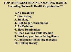 Damaging habits