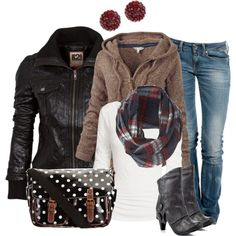 spring outfit ideas for women 2014 | Winter Outfit Ideas | Black Jacket