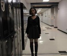 Back to school/ Back to goth :)))) on We Heart It 937 imagens sobre egirl/ grunge girl no We Heart It Black Girl Aesthetic, Goth Aesthetic, Aesthetic Clothes, Edgy Outfits, Grunge Outfits, Cool Outfits, Fashion Outfits, Grunge Goth, Style Grunge