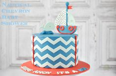 Nautical Chevron Baby Shower ~by @I Sugar Coat It! ~ Jacquee